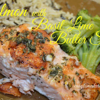 Salmon with Basil Lime Butter Sauce
