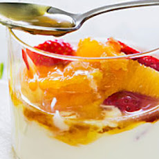 Gingered Fruit with Honey Yogurt