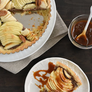 Apple & Pecan Tart with Bourbon Caramel Sauce
