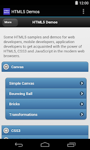 HTML5 Demos - screenshot