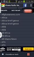 Screenshot of Ghana Radio News