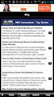 Screenshot of NBC Connecticut Weather