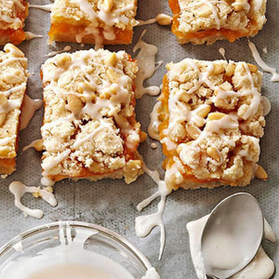 Apricot-Rosemary Streusel Bars