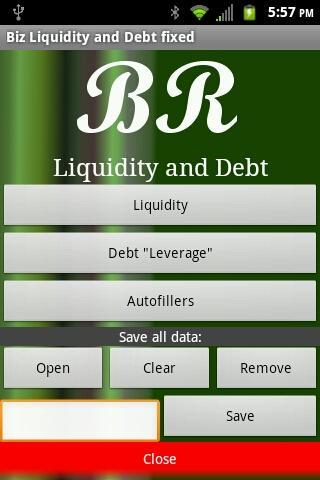 Biz Liquidity and Debt fixed