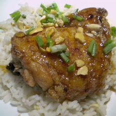 Honey Vanilla Glazed Chicken over Sweet Vanilla Rice