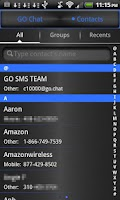 Screenshot of GO SMS Pro Theme Blue Metal