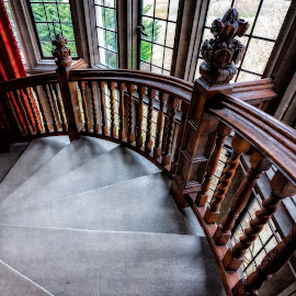 Coe House Mansion Stairs by Linda Karlin - Buildings & Architecture Public & Historical ( long island, architecture,  )