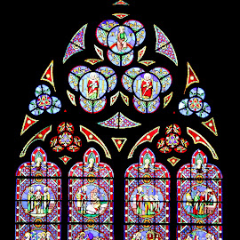 Church stained glass window by Michael Moore - Buildings & Architecture Architectural Detail