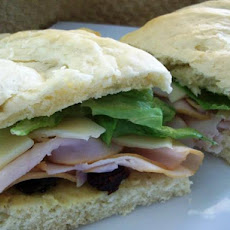 Smoked Turkey Sandwich With Cranberry Butter