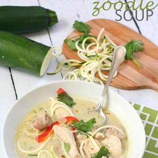 Paleo Thai Chicken Zoodle Soup