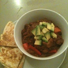 Chilli Con Carne With Cheese Quesadilla Triangles