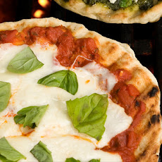Mozzarella and Fresh Basil Grilled Pizza Recipe