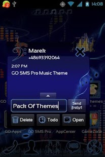 Music Theme for GO SMS Pro - screenshot