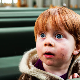Into child's eyes by George Marcu - Babies & Children Child Portraits ( iceland, church, 2014, childs, boy,  )