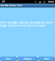 Screenshot of Komik Sözler