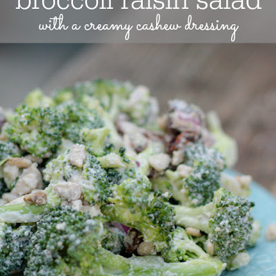 Raw Broccoli Raisin Salad