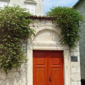 Door in Rab, Rab by Bozica Trnka - Buildings & Architecture Architectural Detail ( rab, door, adriatic sea, adriatic coast,  )