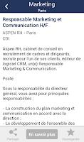 Screenshot of Offres d'emploi - Travail