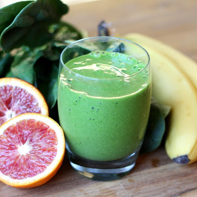 Blood Orange Pineapple Spinach Smoothie