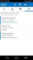 Screenshot of Lync 2013