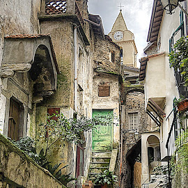 Rocchetta Nervina, the land of fairy tales by Roberta Sala - City,  Street & Park  Street Scenes ( hdr, street, cityscape, italy )