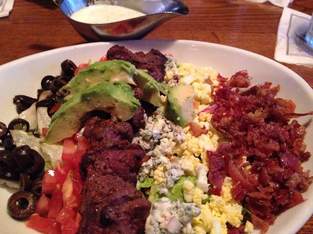 Steak Cobb salad, request no blue cheese!