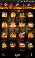 Screenshot of Fire Theme