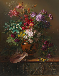 RIJKS: Georgius Jacobus Johannes van Os: Still Life with Flowers in a Greek Vase: Allegory of Spring 1817