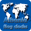 Albania flag clocks icon