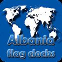 Albania flag clocks