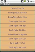 Screenshot of Thơ Chế Vui