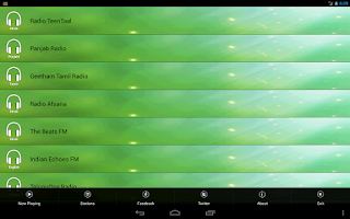 Screenshot of Online FM Radio India