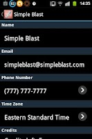 Screenshot of SimpleBlast