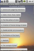 Screenshot of Imam Nawawis' 40 Hadith