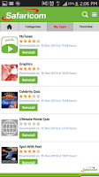 Screenshot of Safaricom Appstore