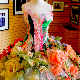 Tutu by Ronnie Caplan - Artistic Objects Clothing & Accessories ( fashion, colourful, store, tutu, bodice, flowers, ballerina, ballet )