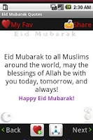 Screenshot of Happy Eid Mubarak Wishes