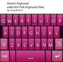 Screenshot of Hot Pink Keyboard Skin