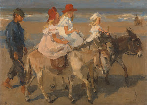 RIJKS: Isaac Israels: Donkey Rides on the Beach 1901