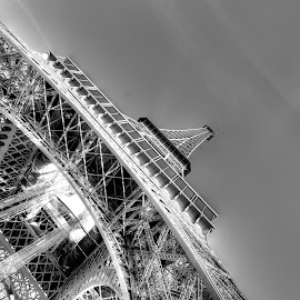 Up there by Todd Thompson - Buildings & Architecture Statues & Monuments ( paris, eiffel tower,  )