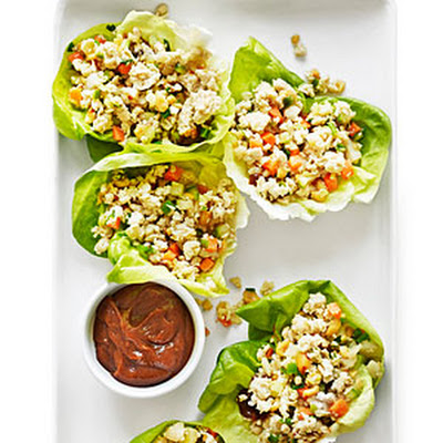 Lemongrass Ginger Chicken in Lettuce Cups