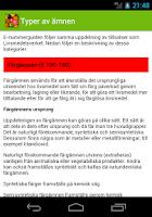 Screenshot of E-nummerguiden