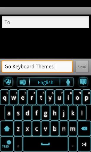 GO Keyboard Blue Glow EX