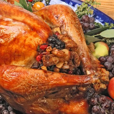 Turkey with Fruit and Nut Stuffing