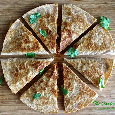 Pulled Chicken Quesadillas