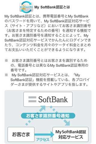 My SoftBank認証設定