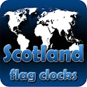 Scotland flag clocks icon