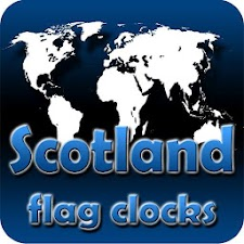 Scotland flag clocks