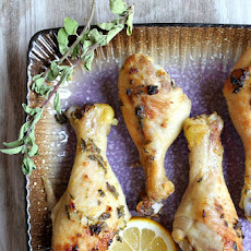 Sweet Lemon-Glazed Drumsticks