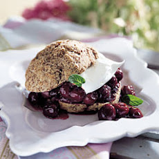 Cherry-Chocolate Shortcakes with Kirsch Whipped Cream